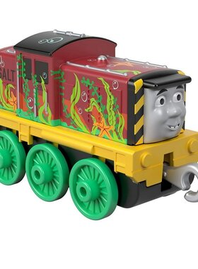 Влакче САЛТИ с водорасли Thomas & Friends Seaweed Salty от серията Trackmaster Push Along, Fisher Price, GHK62
