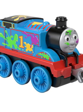 Влакче Цветен ТОМАС Thomas & Friends Paint Splat Thomas от серията Trackmaster Push Along, Fisher Price, GHK64
