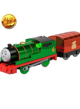 Влакче ПЪРСИ Блестящ Thomas & Friends Celebration Percy Metalic от серията Trackmaster на Fisher Price, GPL61