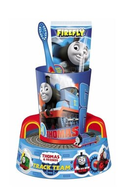 Комплект Четка и паста за зъби с таймер Томас, Thomas Timer Trainer Gift Set with Toothbrush, Toothpaste & Beaker