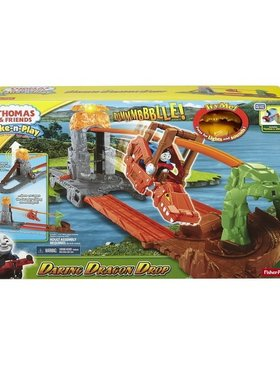 Игрален комплект Thomas & Friends Daring Dragon Drop от серията Take-n-Play Fisher Price, CDN09