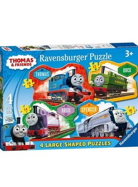 Пъзел Влакчето ТОМАС от Ravensburger, Thomas & Friends Large Shaped puzzle 4в1, 70787