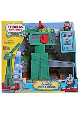 Игрален комплект Thomas & Friends Cranky at the Dock от серията Take-n-Play, Fisher Price R9112