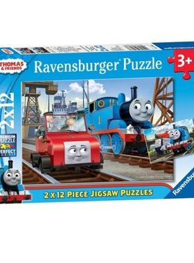 ПЪЗЕЛ влакчето ТОМАС от Ravensburger, Thomas & Friends (2x12) Shaped puzzle, 75683