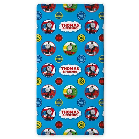 Детски спален чаршаф с ластик Томас, Thomas and Friends bed cover 90x200cm